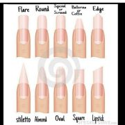 nail shapes makeup nails