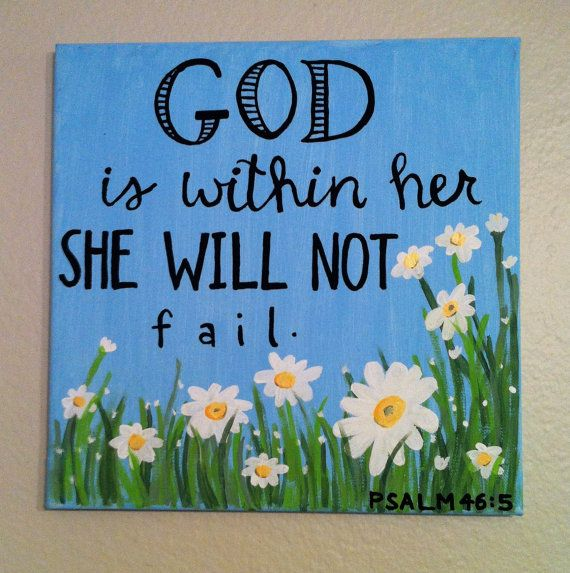 Psalm 465 God is within her she will not by HandicraftsOFHeather, $25.00