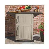 Outdoor Storage Cabinet Patio Serving Station Party Pool ...