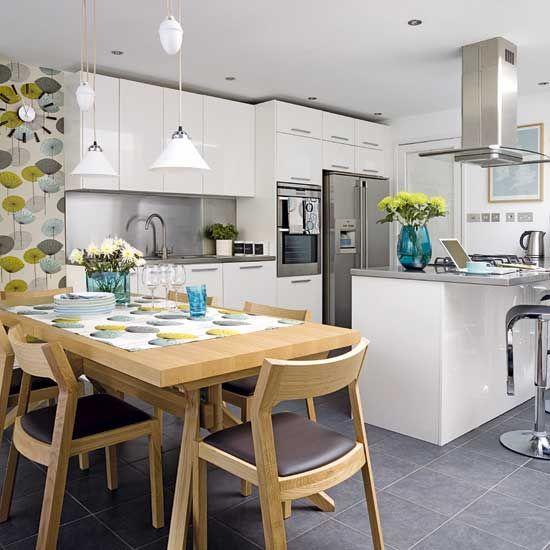 25 Open Plan Kitchen Dinner Room Design Ideas Kitchens And