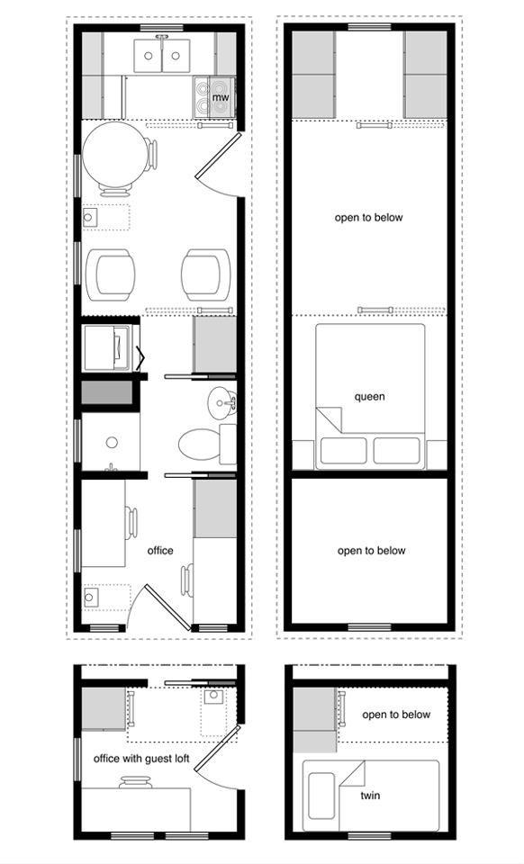 Tiny House Boat RV Floor Plan Tiny House Designs Pinterest