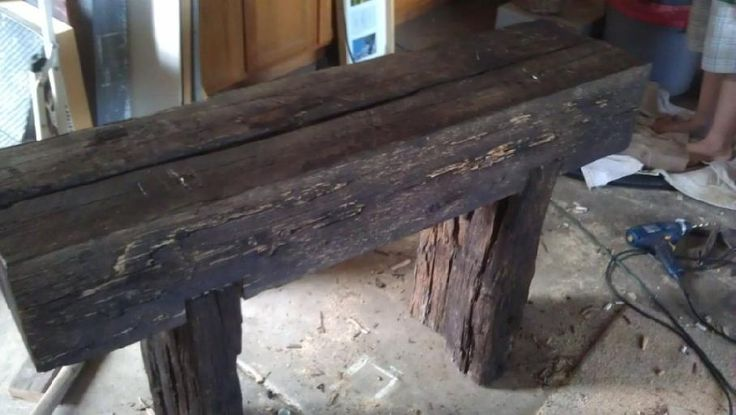13 Best Images About Railroad Tie Furniture On Pinterest