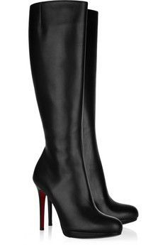 Louboutin tall black boots for work… or just for awesome. These really are pretty perfect.