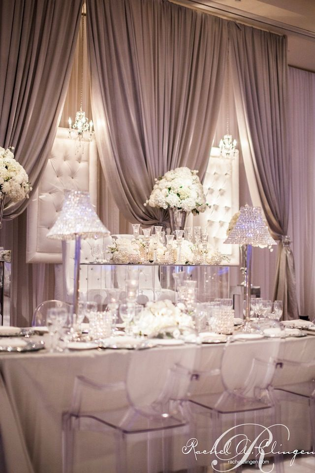 French tufted panel backdrop Rowell Photography  Wedding