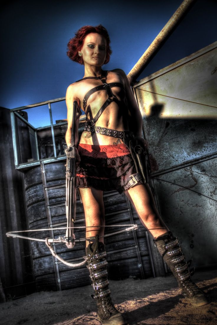 Fall Town Wallpaper Woman Warrior Post Apocalyptic Model Dolly Destruction