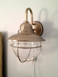 How to make a hard-wire wall light into a plug in wall ...