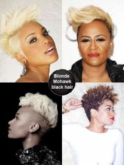 blonde mohawk hairstyle black