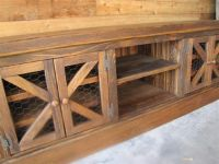 "Rustic ""Chicken Coop"" TV Console with Barn Style Doors ..."