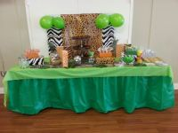 Jungle baby shower dessert table. For more safari baby ...
