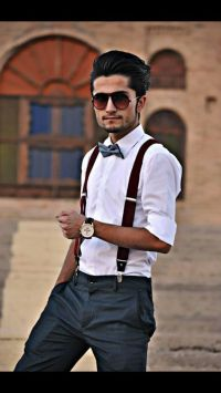 Bow tie,fashion, glasses, slacks,GQ,suspenders | Fashion ...