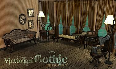 Mod The Sims  VictorianGothic Set  Sims 2 Furniture