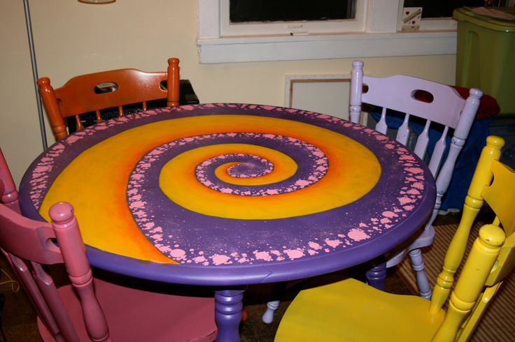 four chair dining set elmo pull out hand painted kitchen table with matching chairs. $125.00, via etsy. | chairs pinterest ...