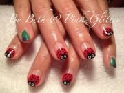 lady bug nail art super fun