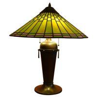Leaded Glass Lamp by Roycroft Shops | Lamps | Pinterest