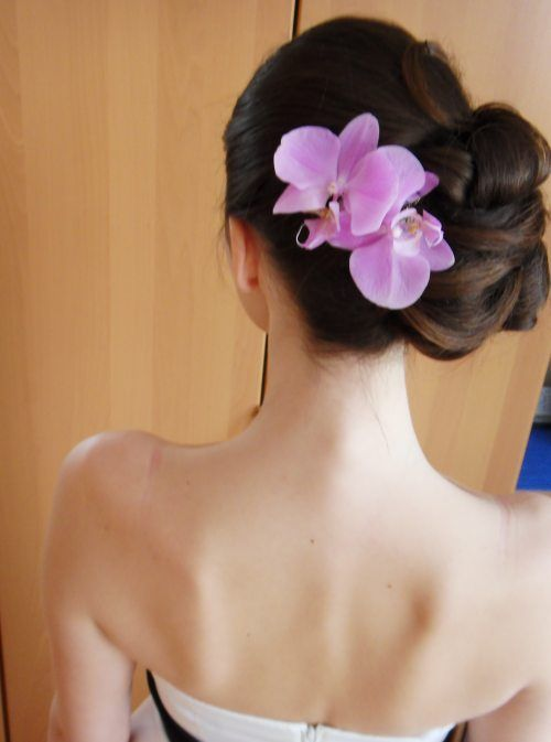 38 Best Images About Hairstyle With Orchid On Pinterest Updo