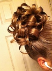 pin curl curly updo hair styles