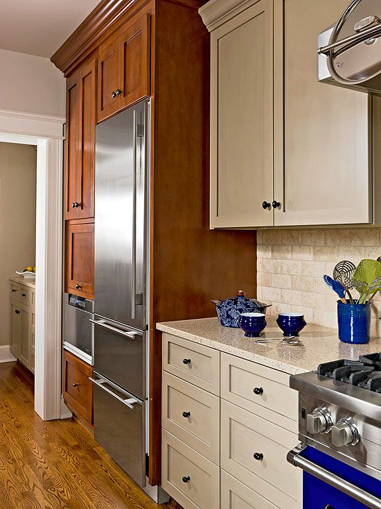 Three Galley Kitchens To Love Taupe Paint And Walnut Stain