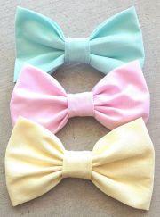 pastel bows hairbowsbyandrea