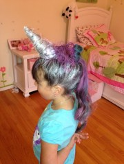 unicorn hairstyle daughters
