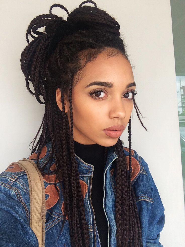 25 best ideas about Box braid styles on Pinterest  Box braids styling Box braids and Black braids