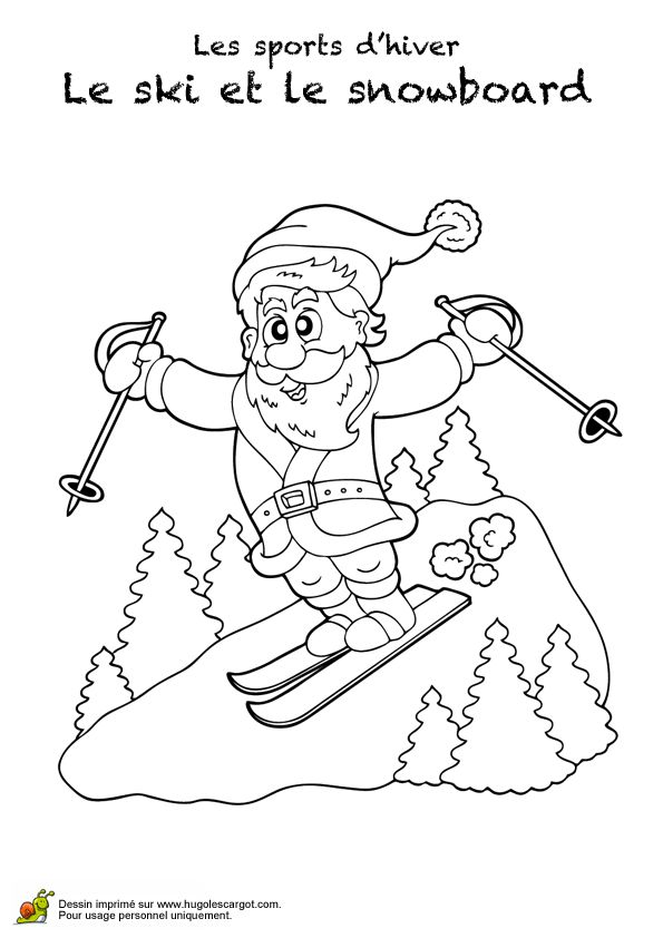 45 best images about Coloriages sports d'hiver on Pinterest