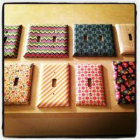 My DIY light switch cover | DIY projects | Pinterest ...