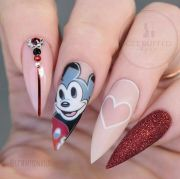 ideas disney nails