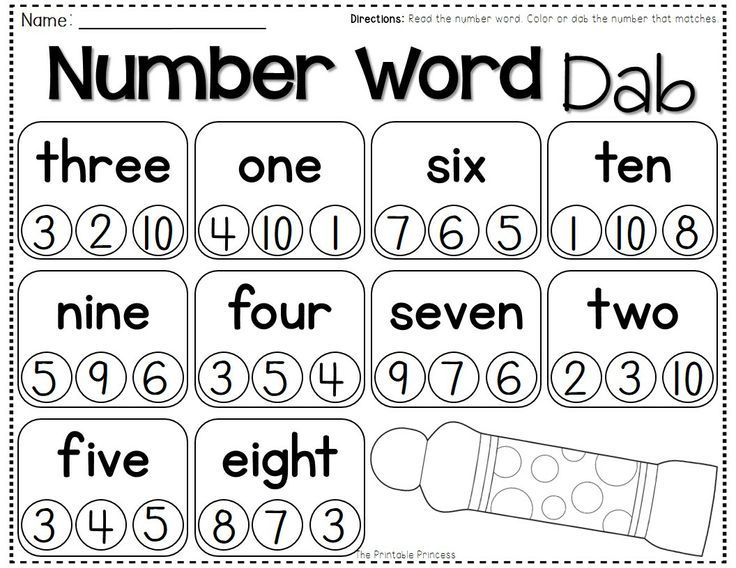 17 Best ideas about Number Words on Pinterest