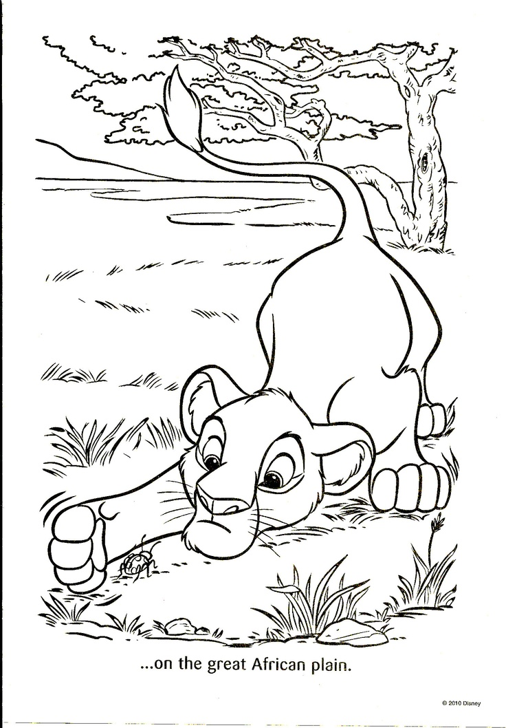 58 best images about Coloring Pages/LineArt-Disney- Lion