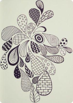 doodle zen doodles patterns easy zentangle pattern zendoodle drawing drops designs simple draw doodling drawings shape zendoodles shapes zentangles pretty