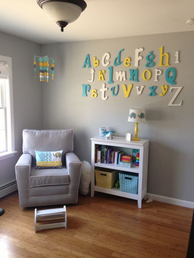 Color Idea Gray Walls With Accents Of Teal Turquoise Yellow And Or