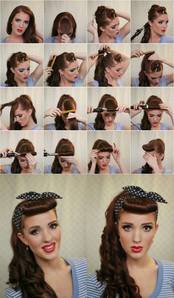 25 Best Ideas About Easy Vintage Hairstyles On Pinterest