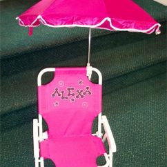 Folding Chair With Umbrella Hanging In Bedroom Always My 1st Birthday Gift - Personalized Beach | Gifts Pinterest ...
