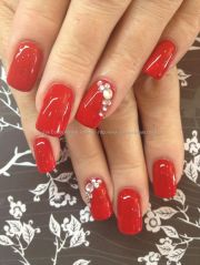ideas red nails