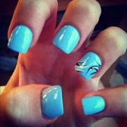 baby blue nails hair