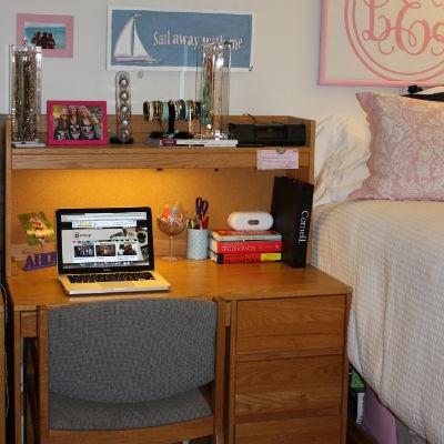 Keep your desk organized Get Preppy College Dorm Room