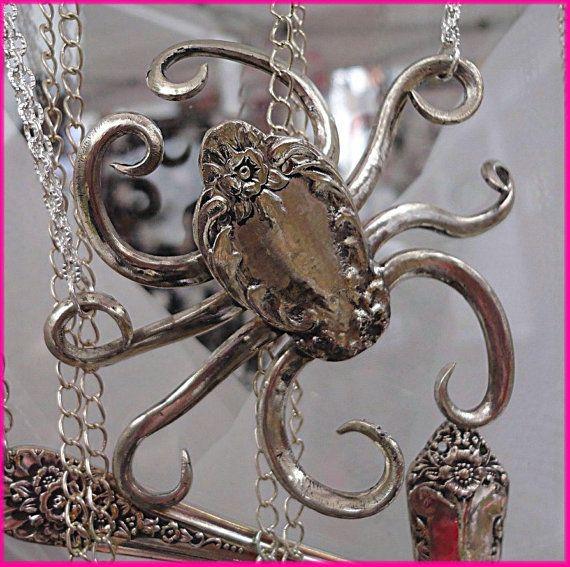 The Octomom Vintage Flatware Silverware Jewelry By