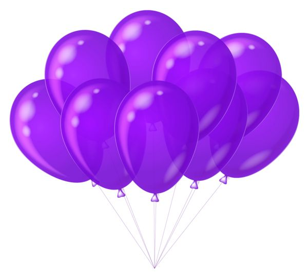 transparent purple balloons clipart