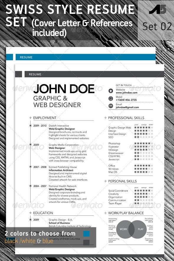 cv design template work