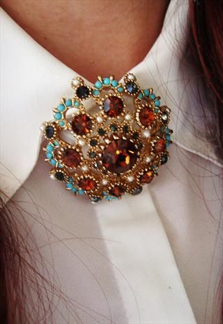 17 Best Images About Collar Brooches On Pinterest