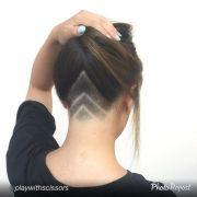 nape undercut hair and beauty