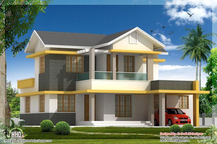 Beautiful Bedroom House Elevation In Sq Feet Kerala Homes Urumi