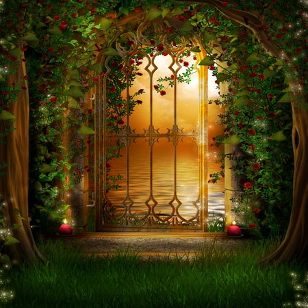Pretty Cartoon Girl Wallpapers Gateway To The Magic Garden Portals Pinterest