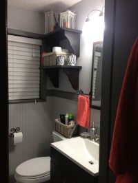 gray and coral bathroom | My Web Value
