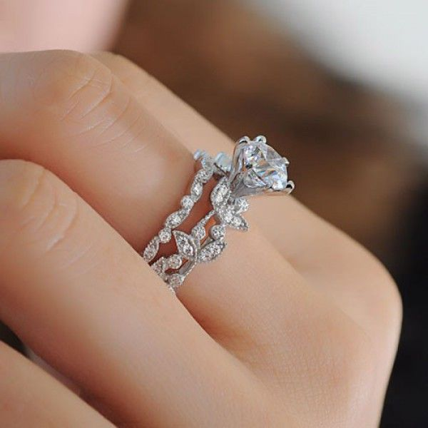 25 best ideas about Bridal ring sets on Pinterest  Bridal bands Silver wedding rings and Rose