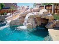 Rock Waterfall with Water Slide - Home and Garden Design ...