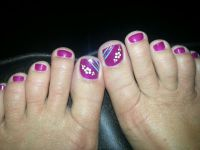 25+ best ideas about Purple pedicure on Pinterest