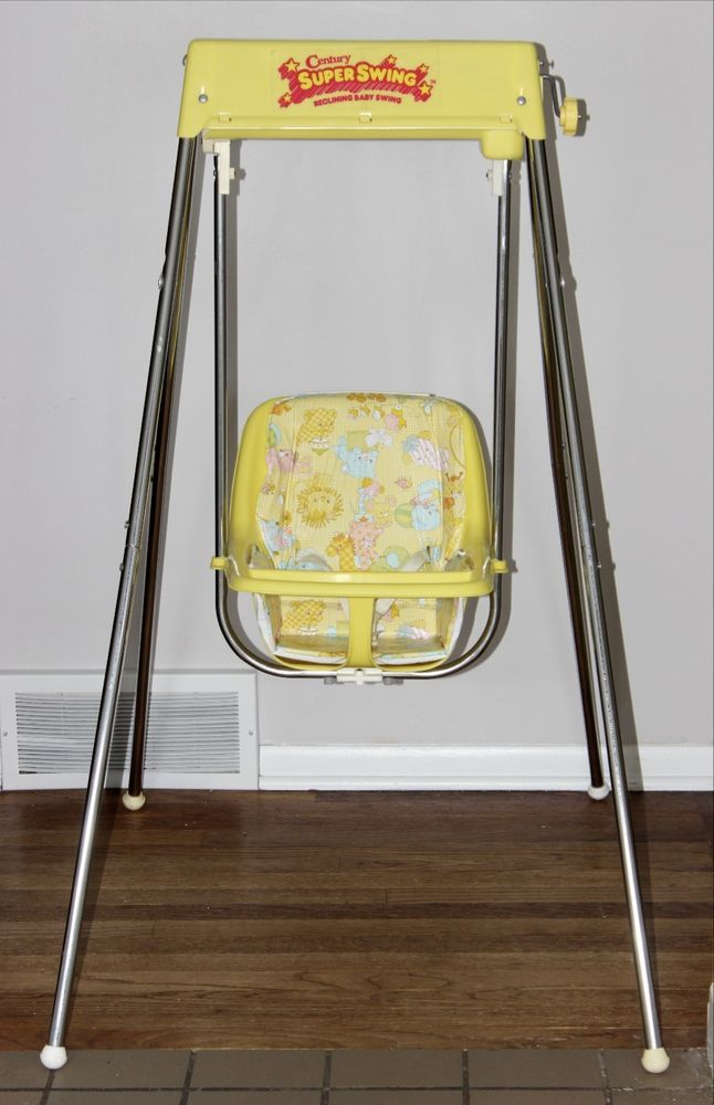 infant bouncy chair folding arm chairs vintage century baby swing wind up excellent | 80's 90's pinterest vintage, swings and ...