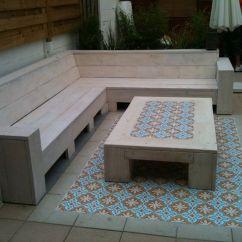 Easy Adirondack Chair Plans Modern Brown Leather Accent Portugese Tegels Met Steigerhout | Hetmooiebuitenleven Pinterest