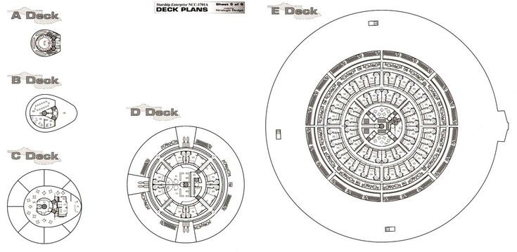 Star Trek Blueprints USS Enterprise NCC 1701A Deck Plans